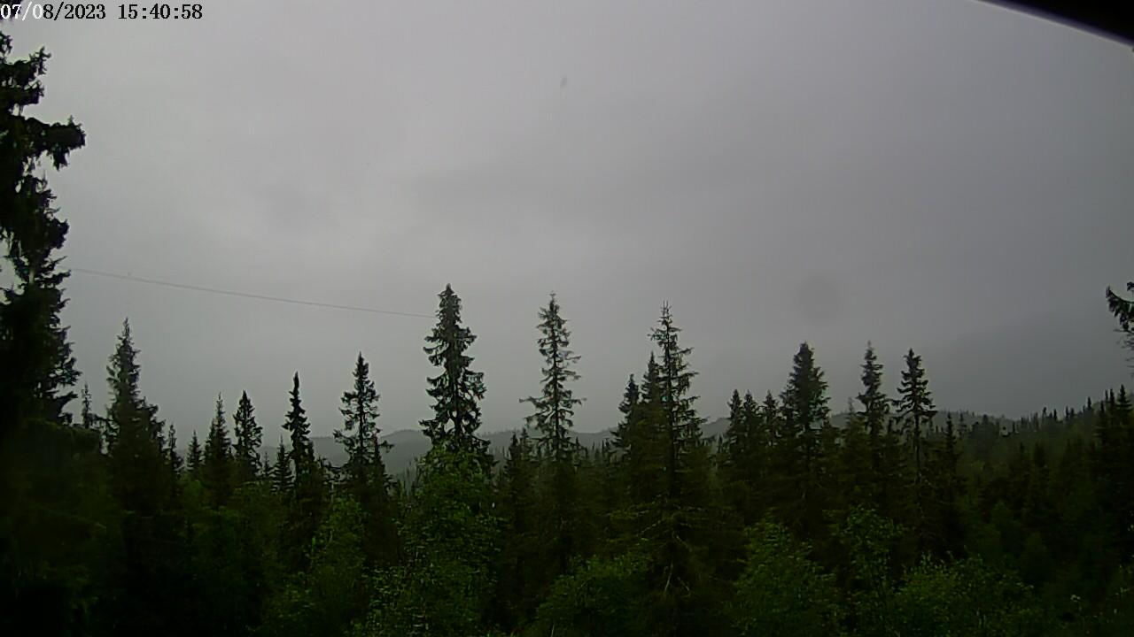 Webkamera fra hytte ved Nordfjellstølen